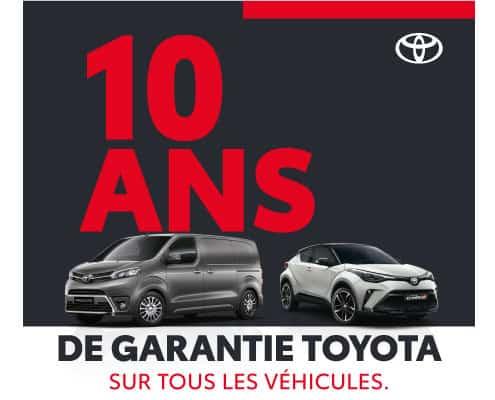 10 ans garantie Toyota